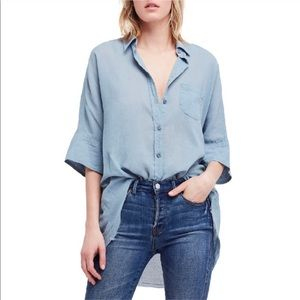 Free People • Oversized Button Down Shirt